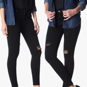 NWT 7 for all Mankind super skinny ripped jeans